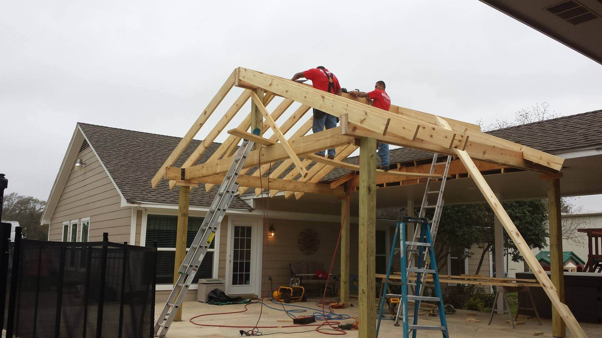 Beautiful Patio Cover Construction 3